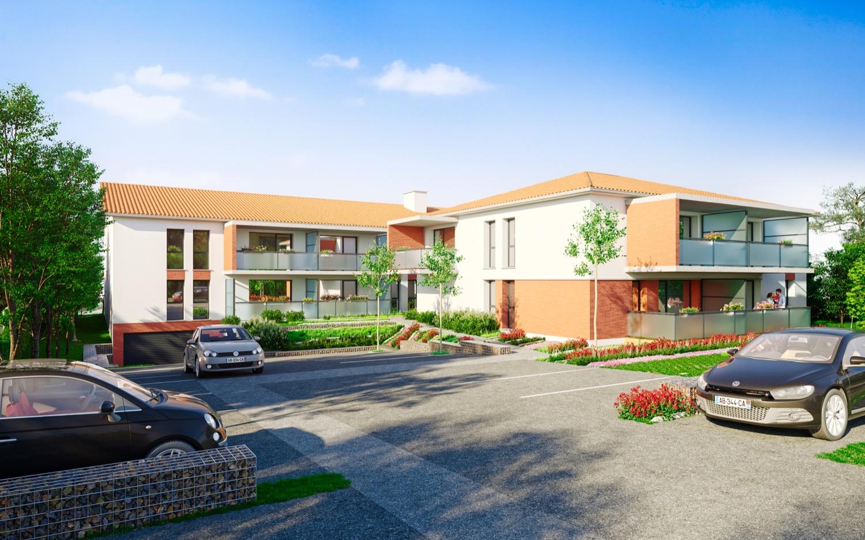 programme immobilier neuf Saint-Orens de Gameville - Les Oh! de Saint-O - vue côté rue - IDÉE DE VILLE